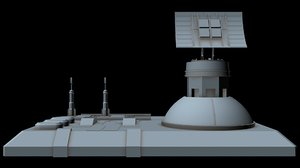 sci-fi radar station 3 3D