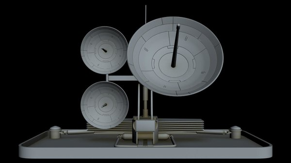 3D sci-fi radar model