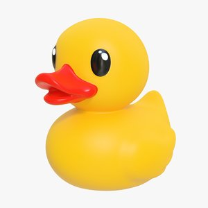 3D rubber duck 02 4 model