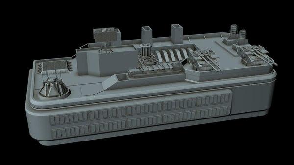 3D sci-fi anti air gun