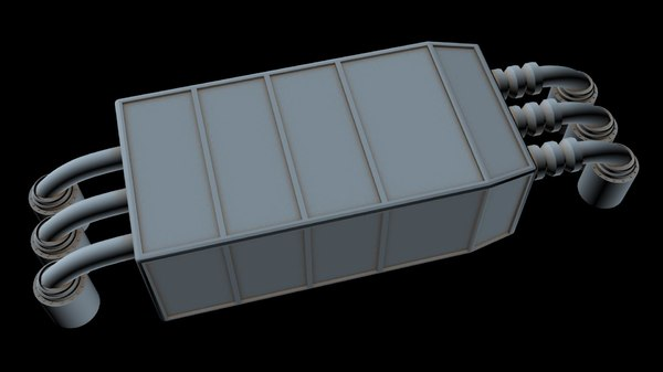 3D starship model