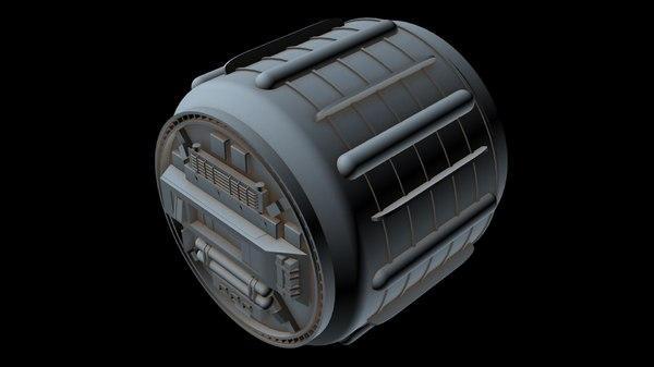 3D model starship
