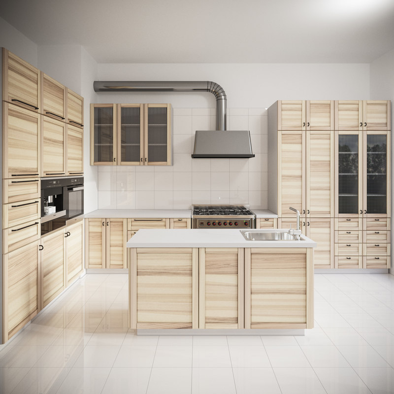 Kitchen Design 3d Model: 3D Model Modern Kitchen