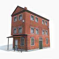 3D old apartment house model