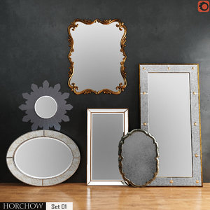 horchow mirrors set 01 3D model