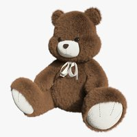 Bear toy brown 02
