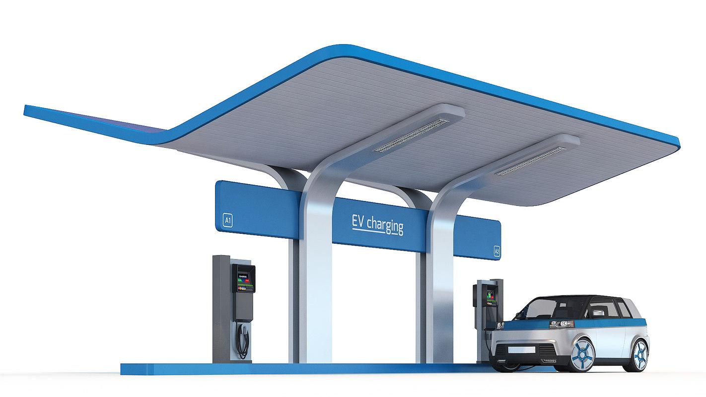 ev charging station 3D
