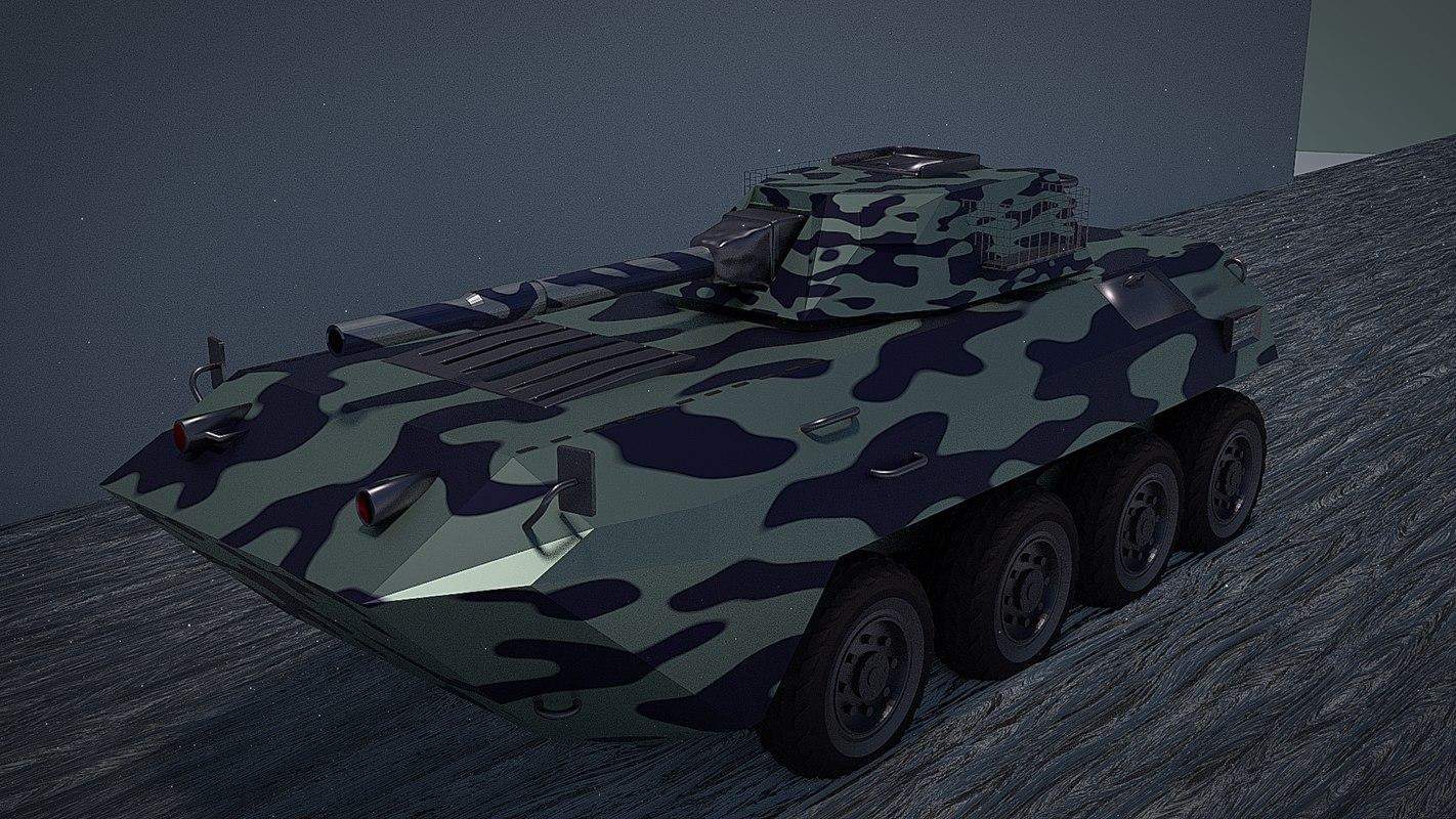 urban amv armored mortar 3D model