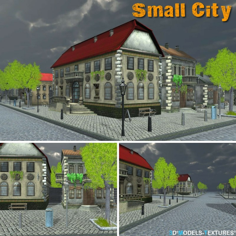 3D small city