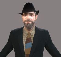 3D detective urban man