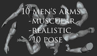 3D anatomy 10 mens arms