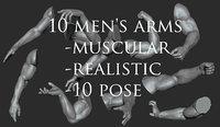 10 men's arms