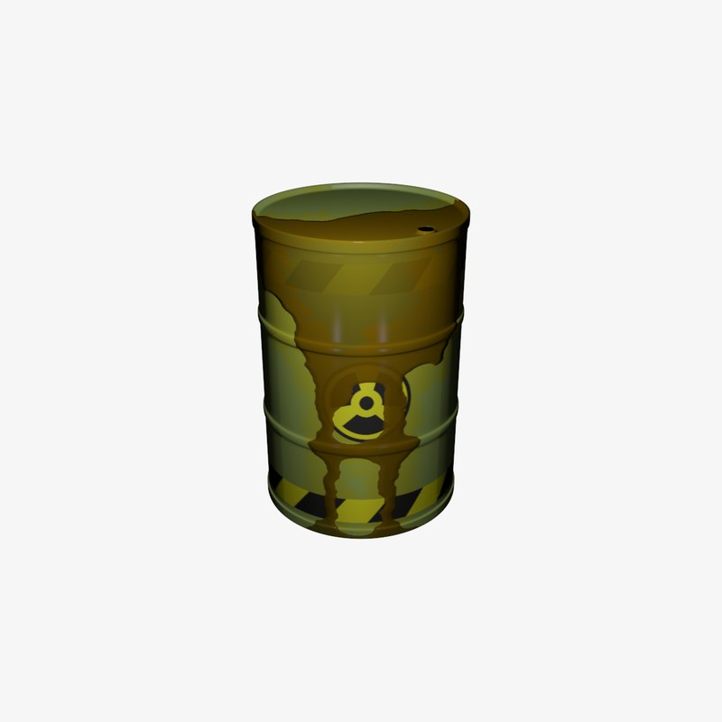 3D barrel waste nuclear model
