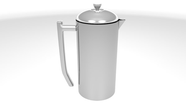 french press stainless steel 3D model
