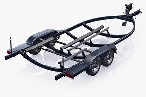 3D boat trailer