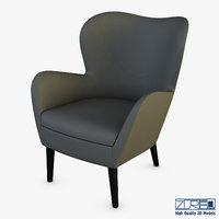 arc armchair 3D model