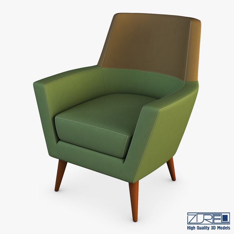 3D doble armchair model