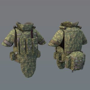 armor 6b43 equipment 3D model
