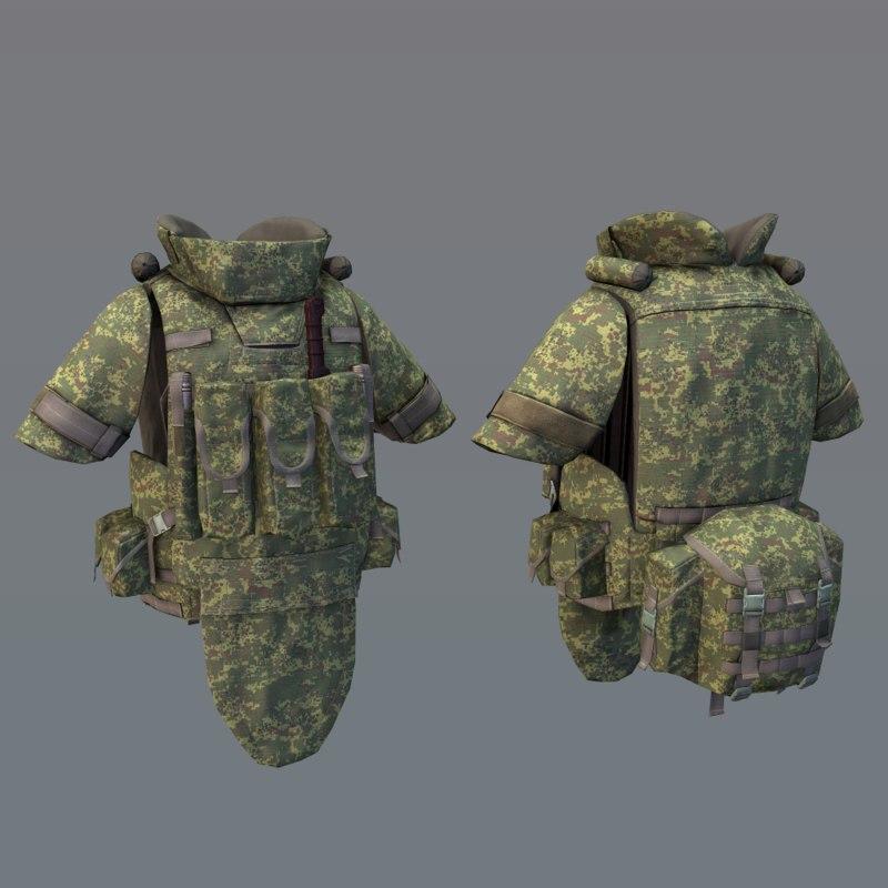 armor 6b43 equipment 3D model