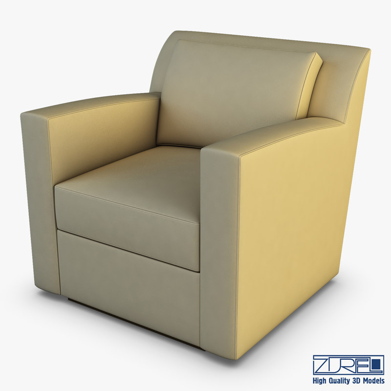 3D model entrada lounge chair