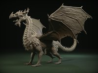 3D model dragon zbrush ztl