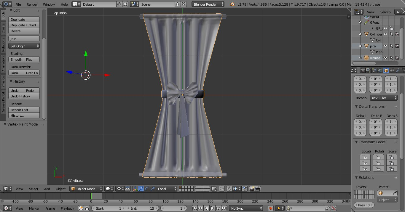 vitrage interior 3D model