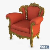 3D rolnstreen armchair model