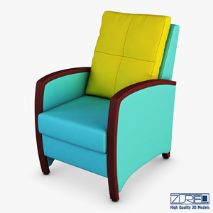 tiffany armchair 3D model