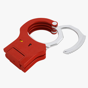 rigid handcuffs 3D model