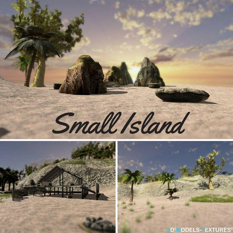 3D small island