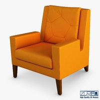 3D geo armchair model