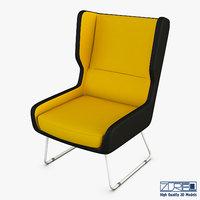 trainy armchair 3D model
