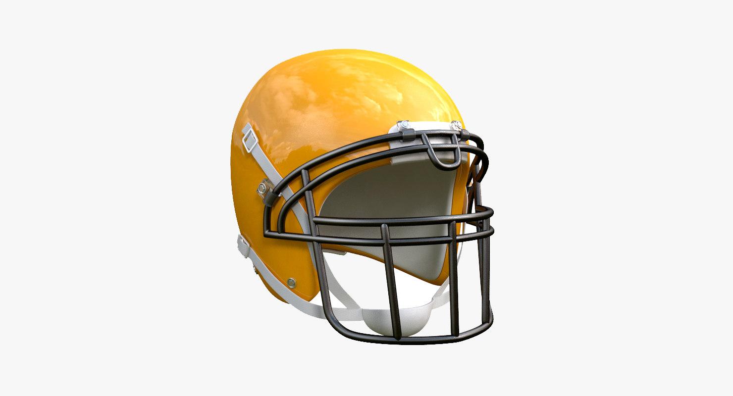football helmet 3D model