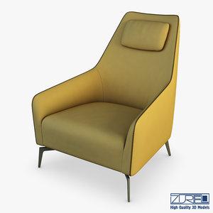carol armchair 3D