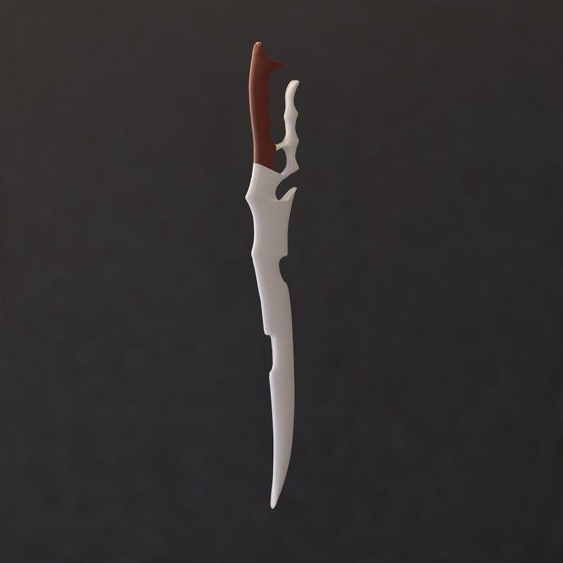 3D untextured sword model