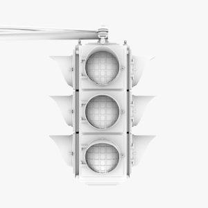 3D model traffic lights