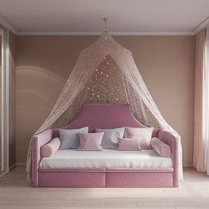 3D hand baby sofa canopy