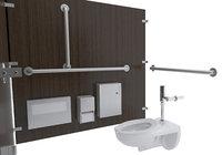restroom stalls toilet 3D