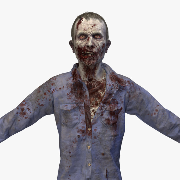 3D zombie rig model
