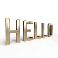 3D decor object - hello