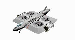 1969 hover jet concept 3D model