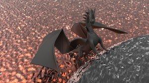 rigged dragon 3D