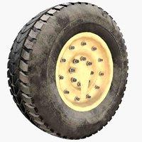 3D humvee wheel rim model