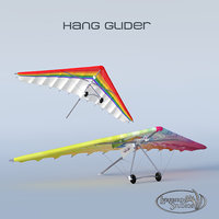 3D model hang glider