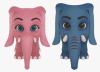 Cartoon Elephants - BUNDLE