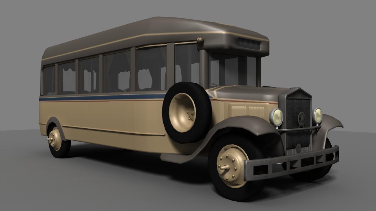 bus japanese 3D model