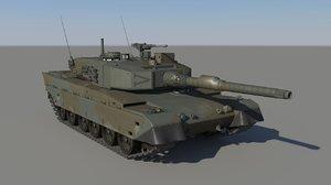 3D japanese tank type90 jsdf