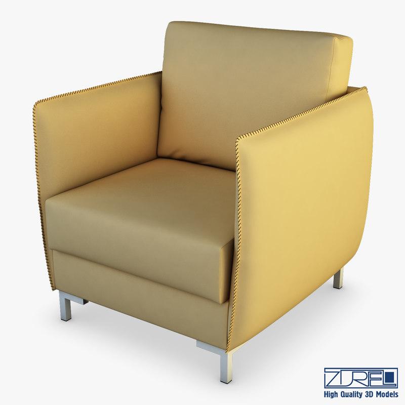 3D moon armchair model