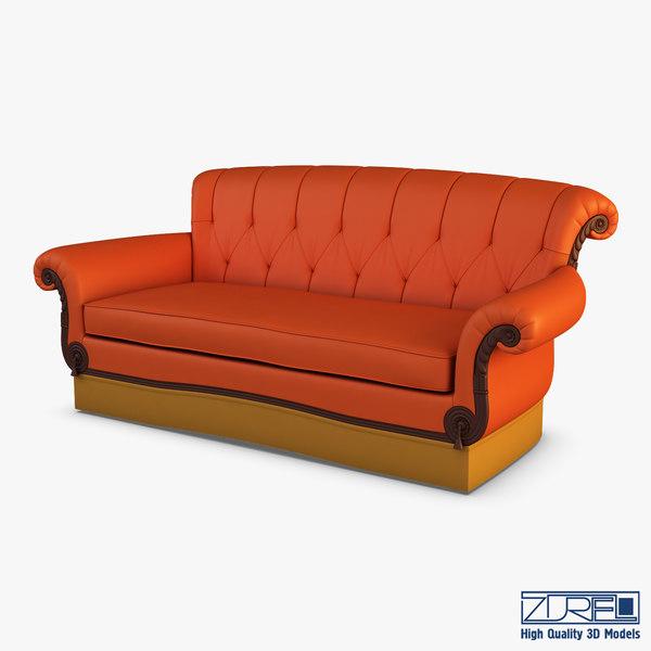 3D eliotte sofa model