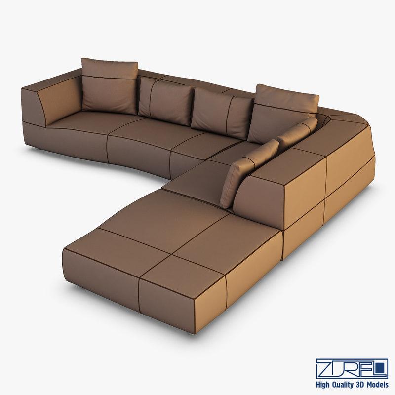 iddesign bend sofa 3D